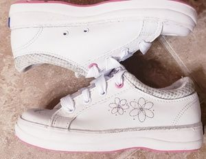 Keds Decorative White Leather Sneakers
